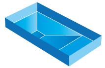 Piscine rectangulaire tronc pyramide